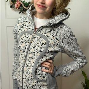 Lululemon Floral Fleur Silver Spoon Scuba Jacket